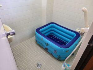 ビニールプールお風呂
